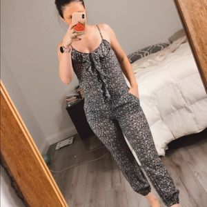 Qed London from ASOS floral jumpsuit